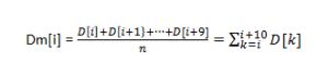 移動平均式1